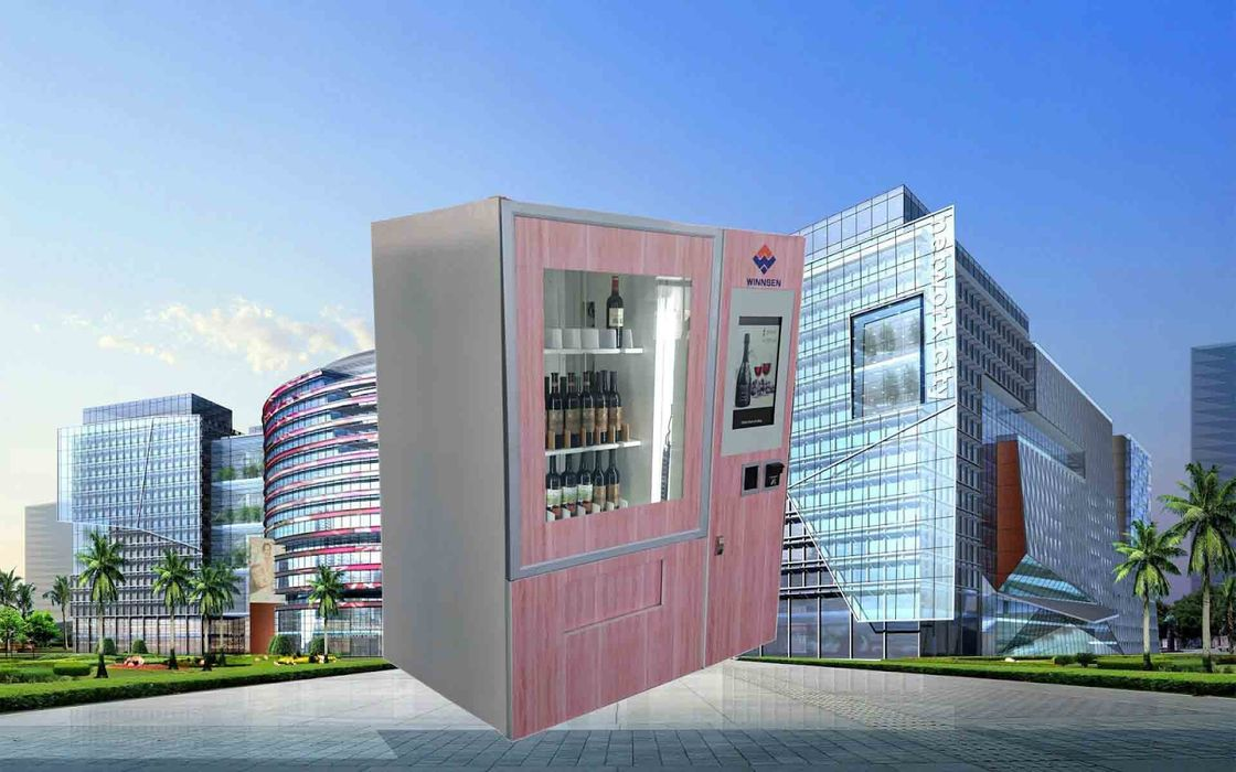 CE FCC Winnsen Wine Vending Machine For Shopping Mall With Credit Card Reader Payment 협력 업체