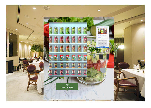 Outdoor Refrigerator Salad In A Jar Vending Machine With 32 Inch Touch Screen
