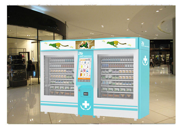 Indoor Outdoor Elevator Lift Drug Medicine Vending Machine For Sale With Advertising Screen